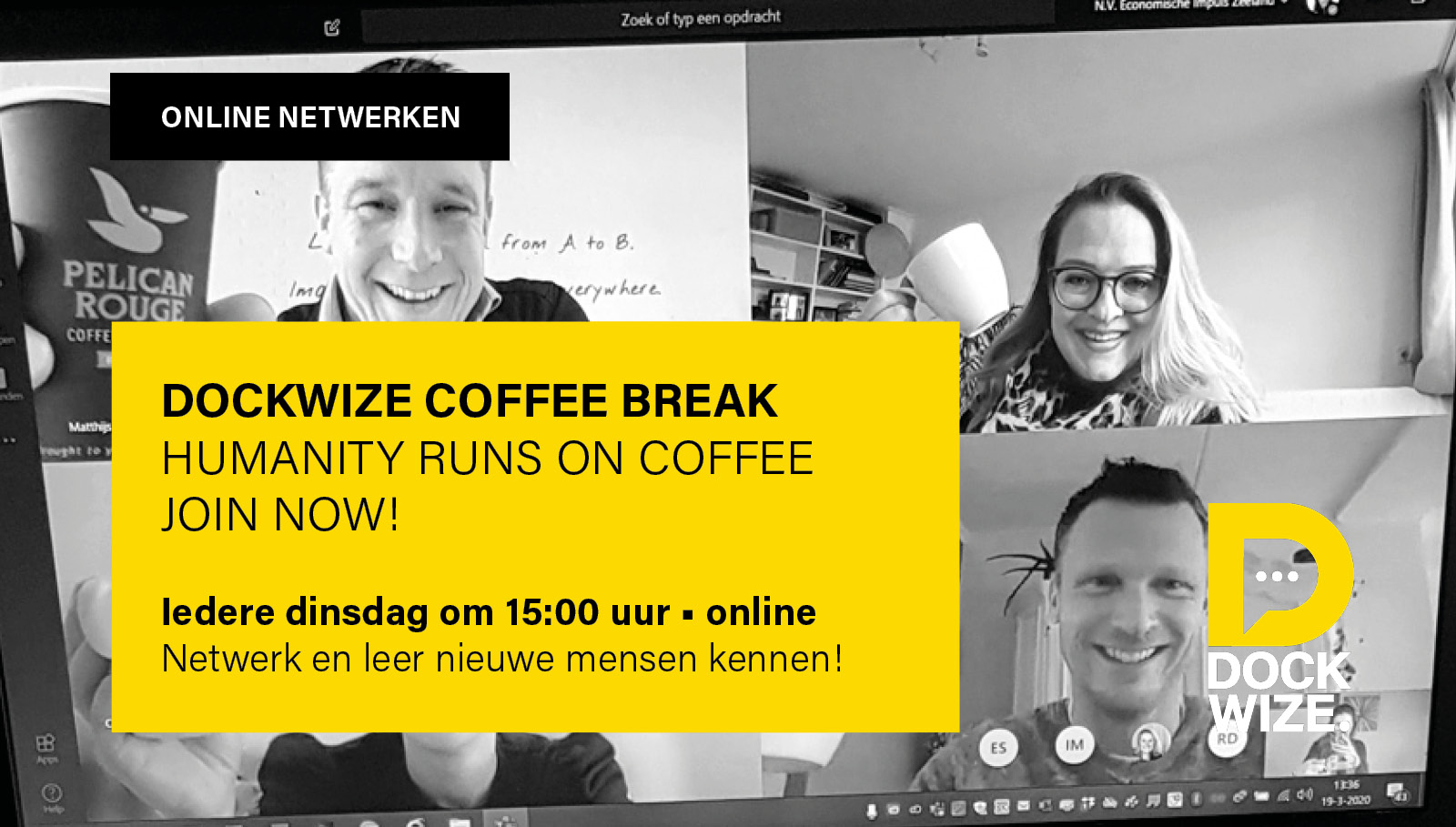 Join de Dockwize Coffee Break now